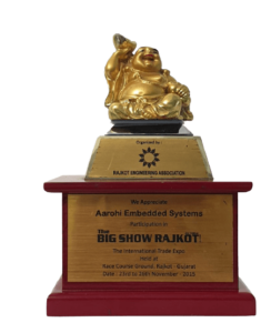 Aarohi Embedded Systems Pvt Ltd Received Appreciation for Participating in Rajkot Big Show-min