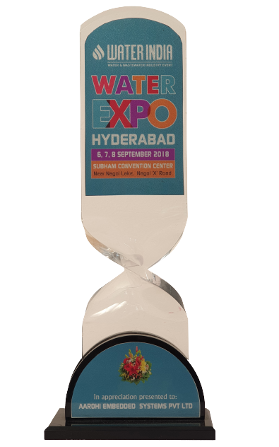 Aarohi Embedded Systems pvt ltd Appreciated By Water EXPO Hyderabad-India