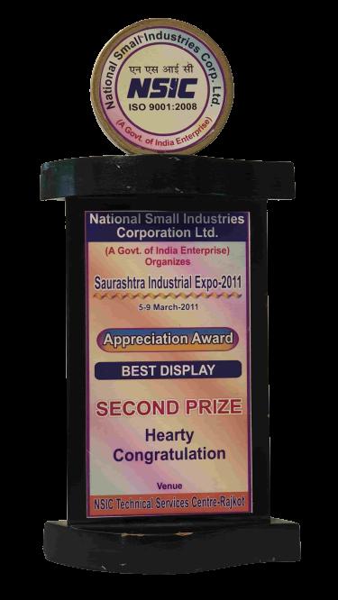 Appreciation Award By Saurashtra Industrial Expo